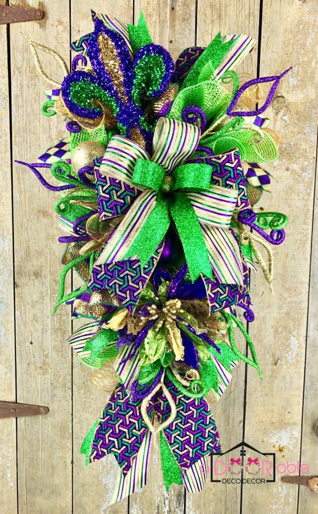 Mardi Gras Swag Wreath