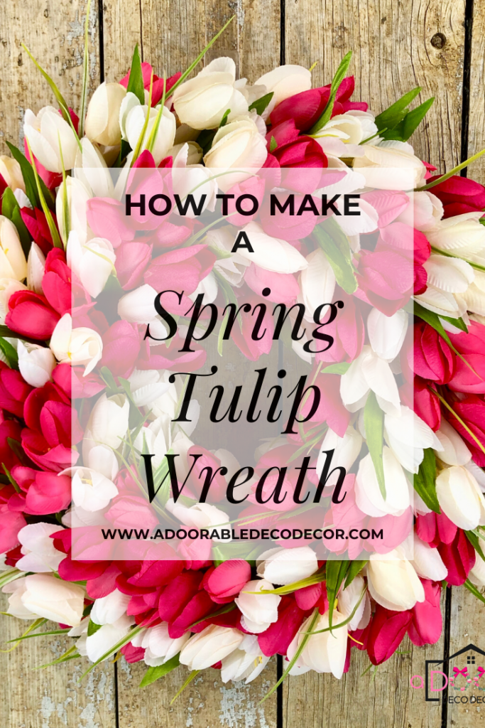 This wreath making tutorial will show you step by step how to make a tulip wreath.