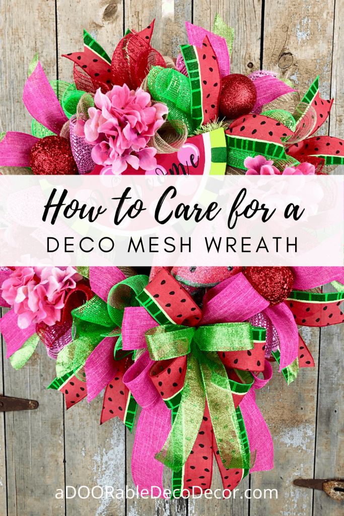 How to Care for a Deco Mesh Wreath