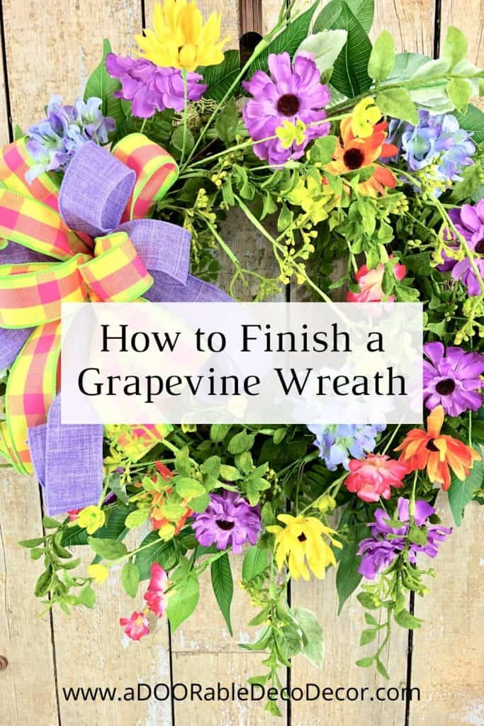 Want to learn an easy way to increase the value of your wreaths? Let me show you how to finish a grapevine wreath!