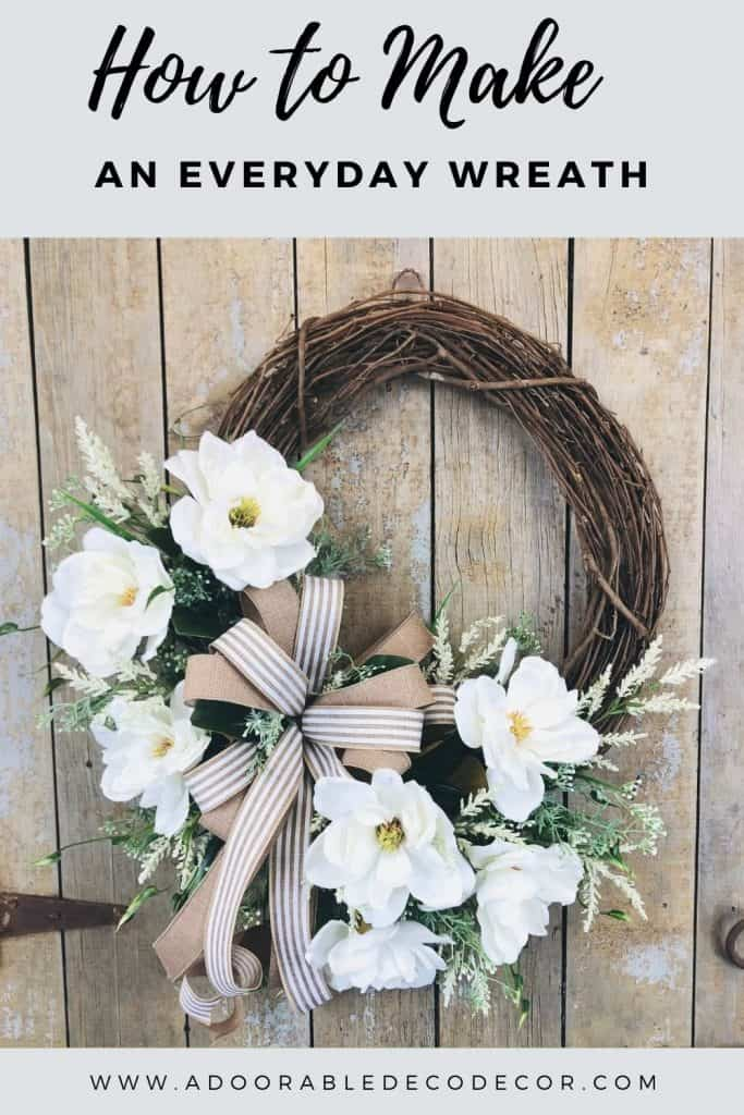 This detailed, step by step video tutorial will show you how to make an everyday wreath with magnolias