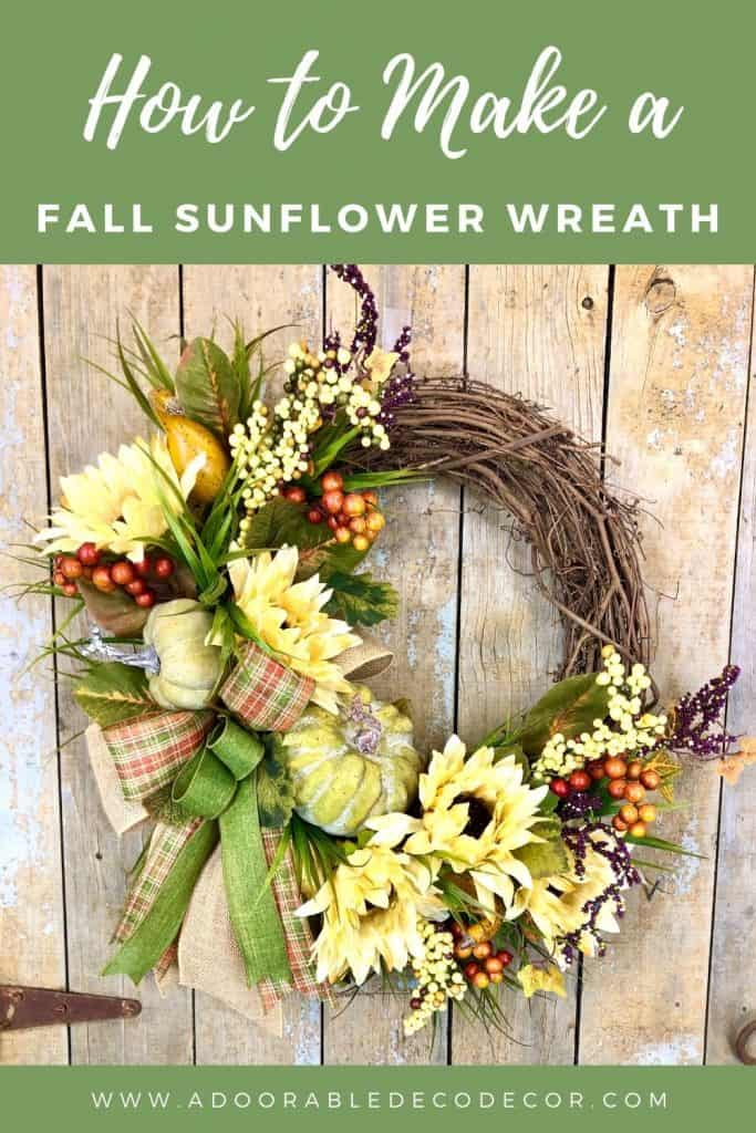 How to Make a Fall Sunflower Wreath